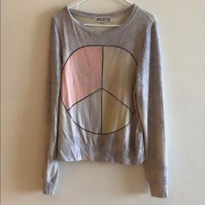 Wildfox peace sign sweater